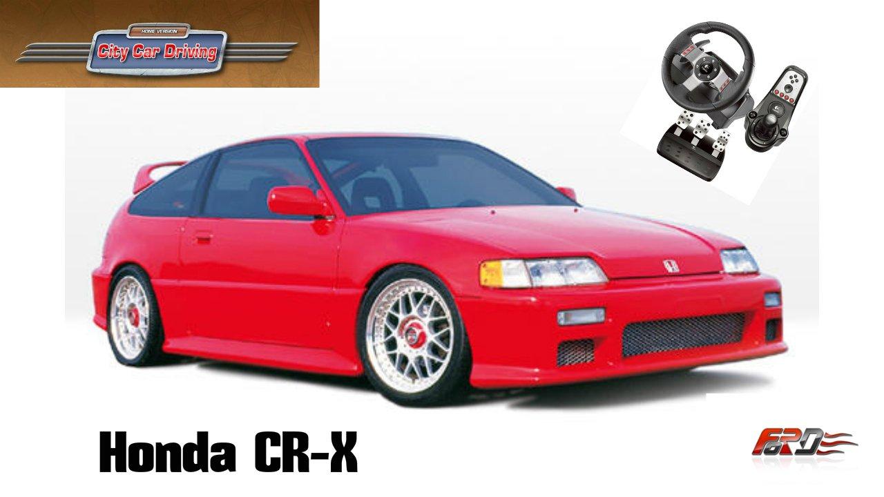 [Honda CR-X] тест-драйв, обзор, разгон, спортивный хэтчбек City Car Driving 1.5.1 - Изображение 1
