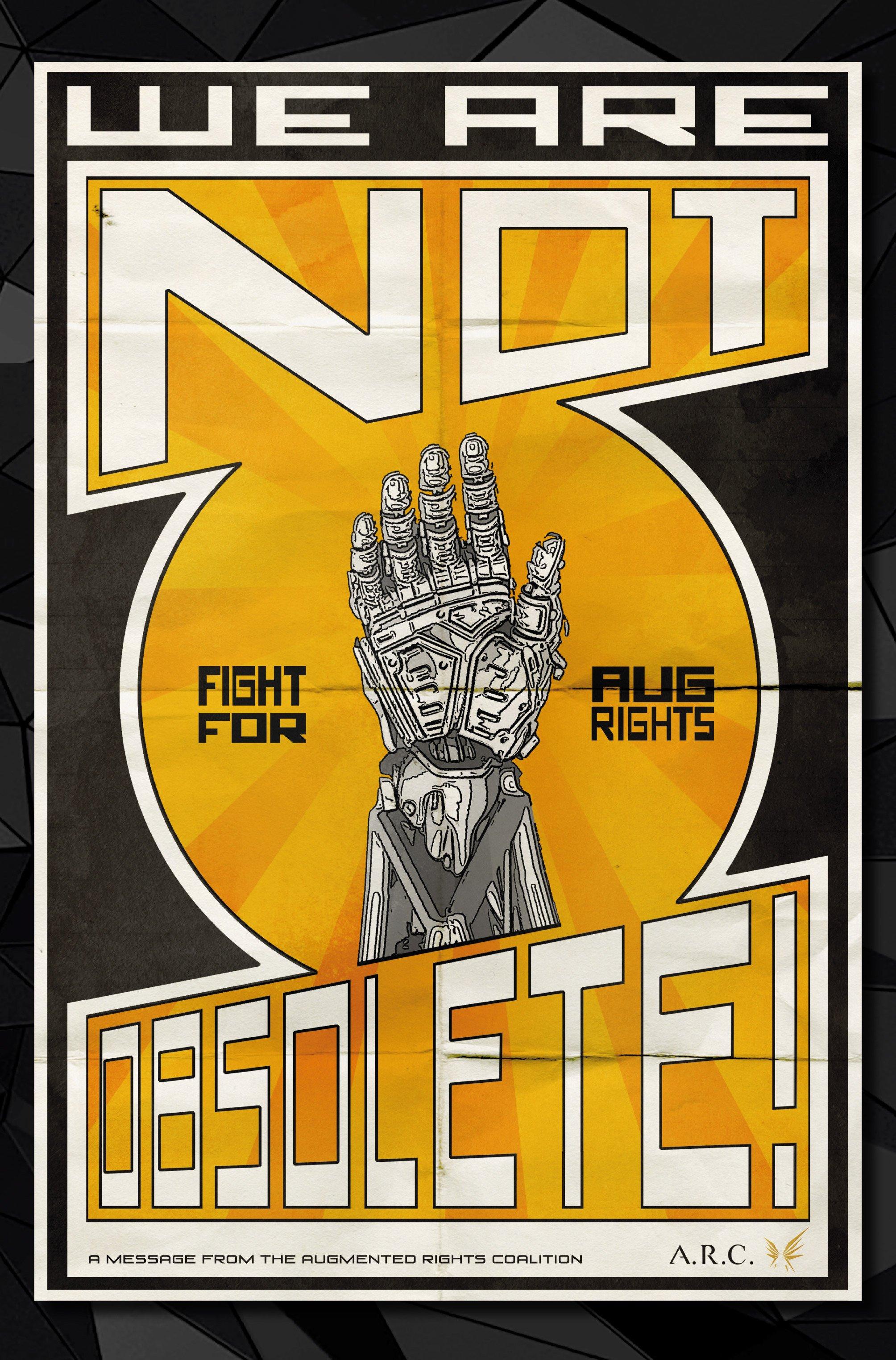 Агитплакаты Deus Ex, которые можно найти в комикс-серии Deus Ex Universe - Children's Crusade. - Изображение 5