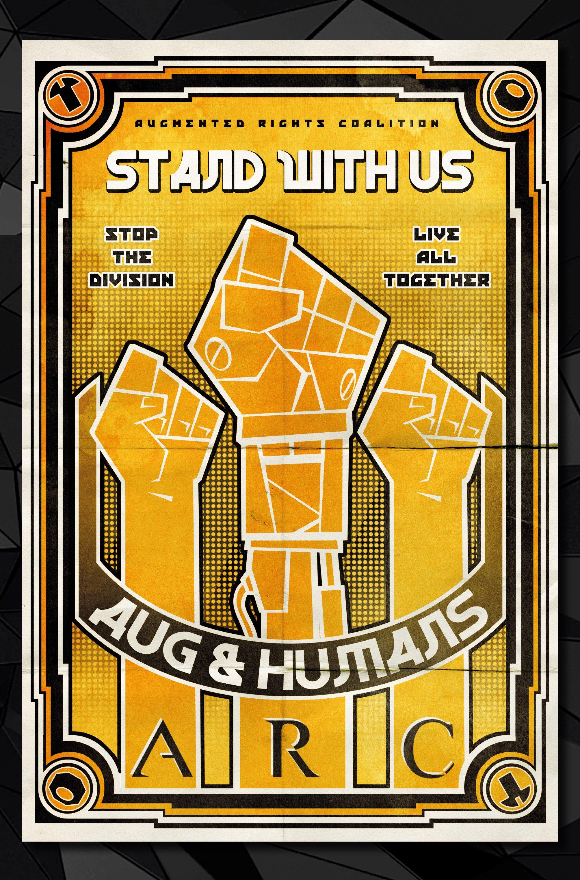 Агитплакаты Deus Ex, которые можно найти в комикс-серии Deus Ex Universe - Children's Crusade. - Изображение 8