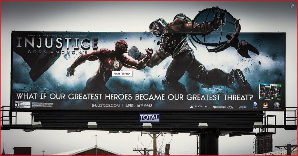 Рекламный щит #injustice. Господи, ну когда же я что-нибудь подобное увижу в России? - Изображение 1
