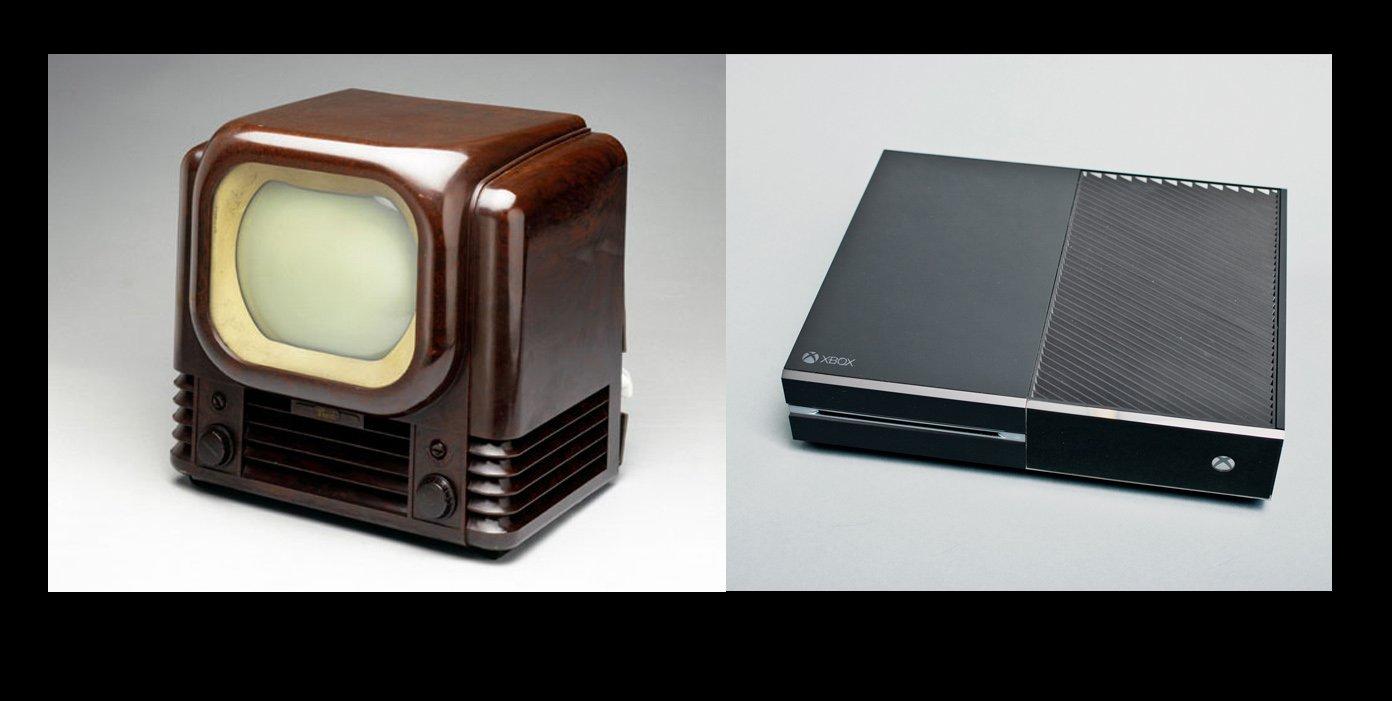 хвох1 VS первый телевизор 39 года.... хмммм мне кажется или дизайнеры все явственней видят идеал дизайнерской мысли  ... - Изображение 1