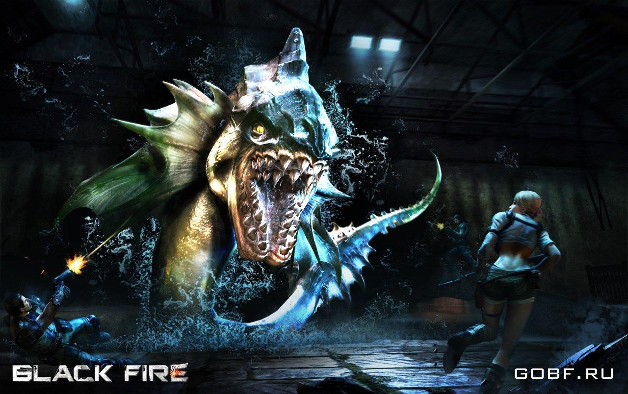Администрация Black Fire опубликовала в социальной сети обои по игре - вот такую жуткую рыбину.Прочитал про нее на с ... - Изображение 1