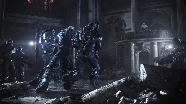 Повторение – мать учения или  Gears of War: JudgmentОтряд  Кило стоит посреди судебного зала, за дверью слышны выстр ... - Изображение 1