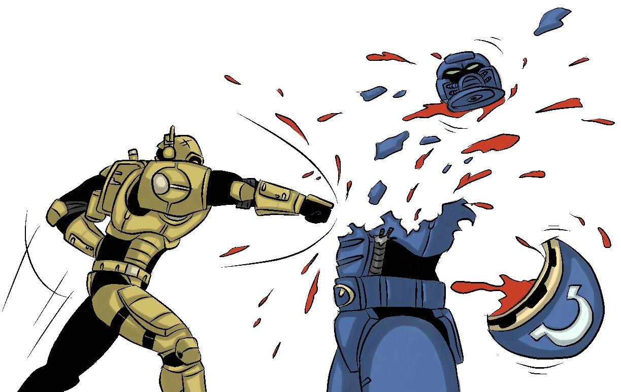 Когда мечты врага становятся реальностью... Когда Батлсьют в рукопашке убивает штурмового Терминатора... Владимир    .... - Изображение 1