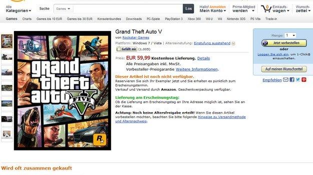 PC версия Grand Theft Auto V появилась в списках Amazon Germany и GamesOnly  Видимо Grand Theft Auto V все же появит .... - Изображение 1