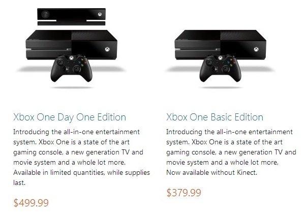 Слух: Xbox One Basic Edition за $379,99Следующая картинка, опубликованная на форуме NeoGAF (может фотошоп, а может и ... - Изображение 1