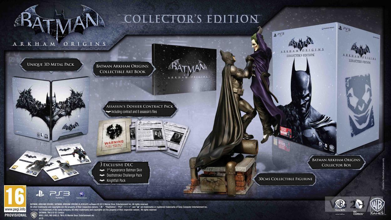 Коллекционное издание Batman: Arkham Origins для Европы анонсировано:   Коллекционное издание будет доступно только  .... - Изображение 1