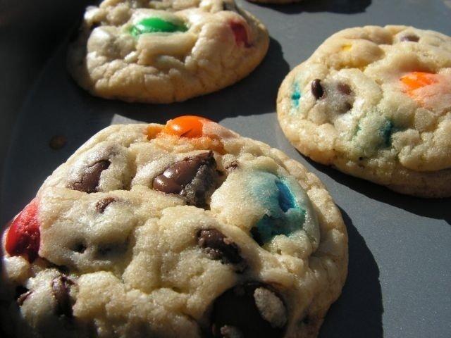 Рецепт печенек из M&Ms; #omnomnom #cookies #печеньки - Изображение 2