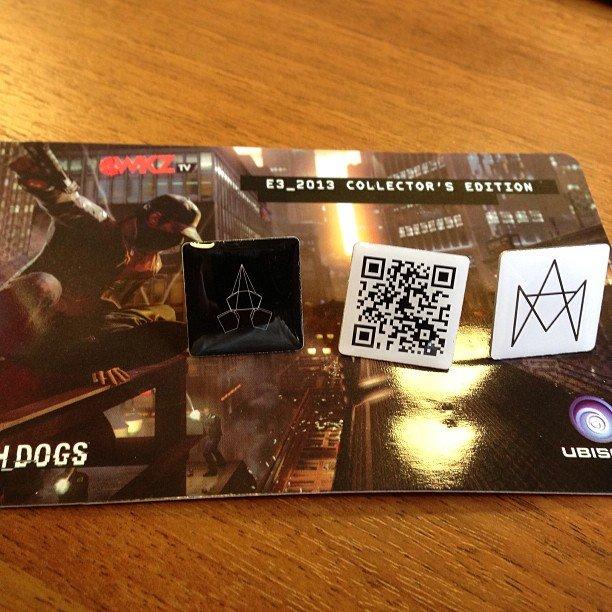 Watch_Dogs #E3 гостинцы заморские. Еще чехол был, но я его уже на свой айфон нацепил. - Изображение 1