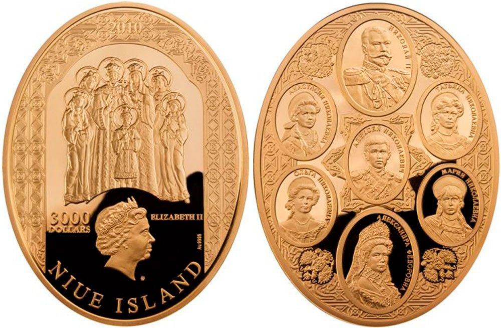"""Просто удивительная дичь. В 2010 году вышла серия коллекционных монет """"Царская семья"""", посвящённая семье последнего  ... - Изображение 1"""