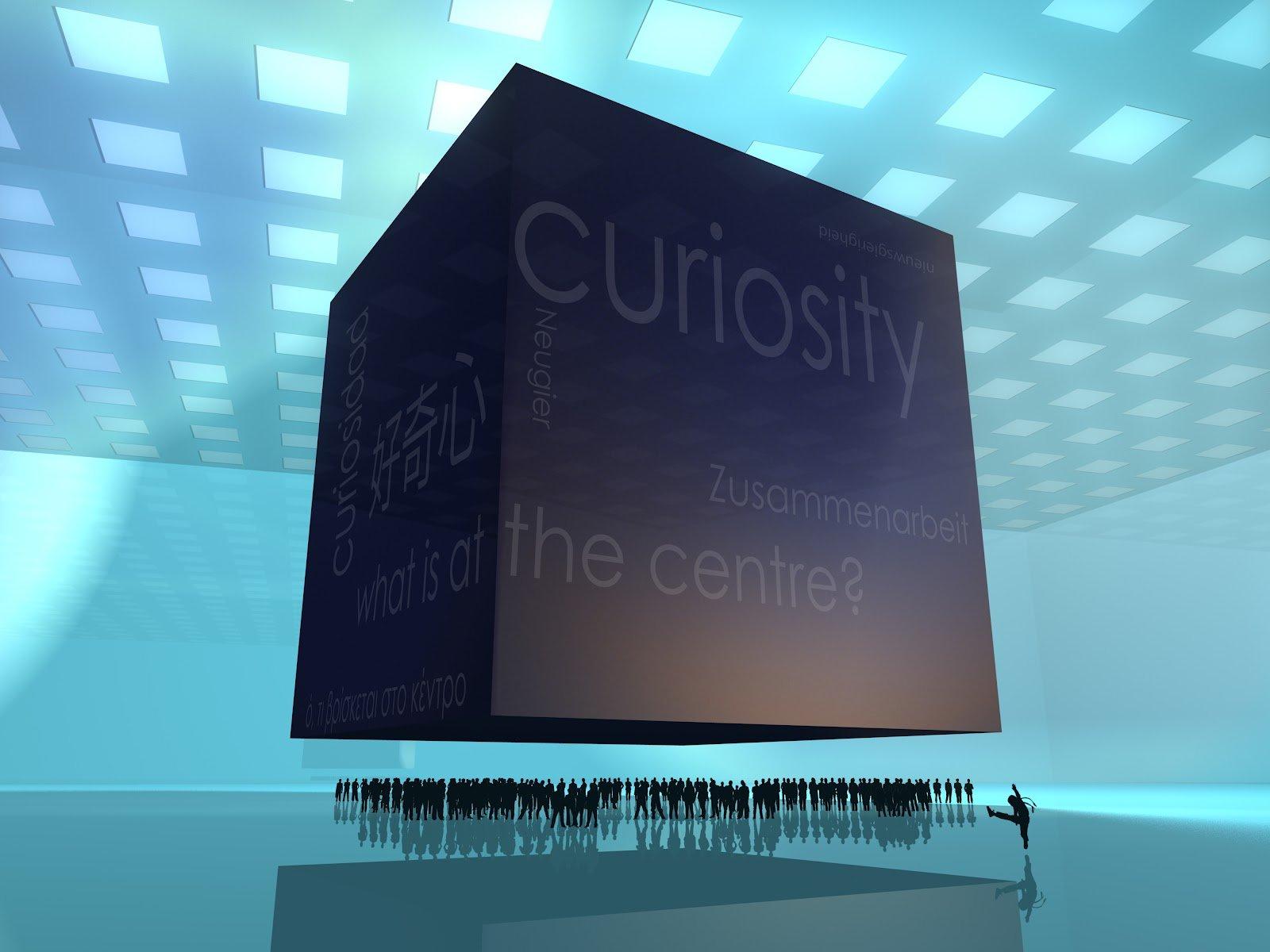 """На кубе в Curiosity осталось 6 слоёв и на нём стала появляться строчка """"will you help to destroy the cube or preserv ... - Изображение 1"""