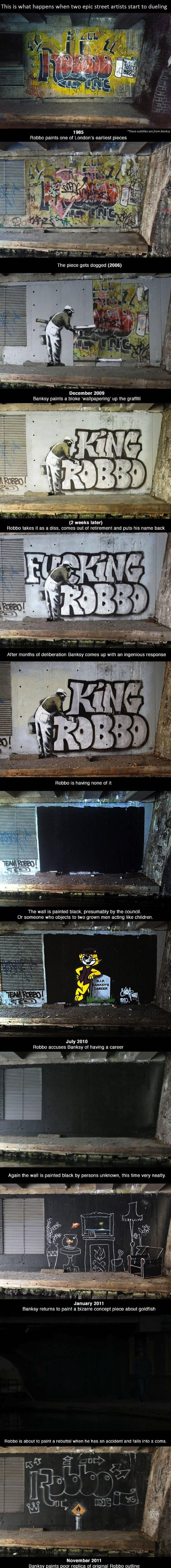 Нашел интересную пикчу - Robbo vs Banksy (*длинная) - Изображение 1