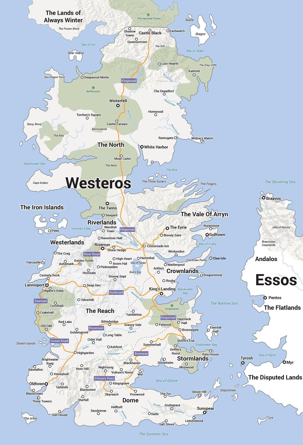 В стиле Google Maps. #gameofthrones - Изображение 1