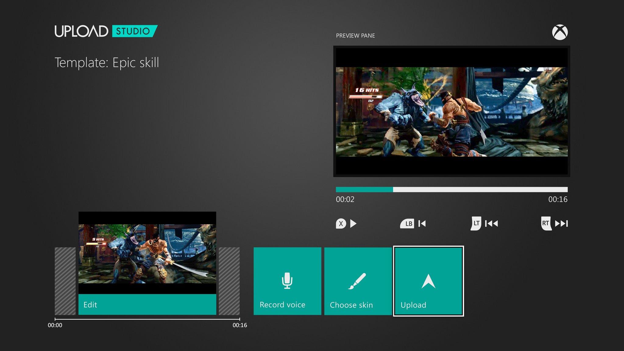 Интерфейс Xbox One  при редактировании мини-роликов  - Изображение 1