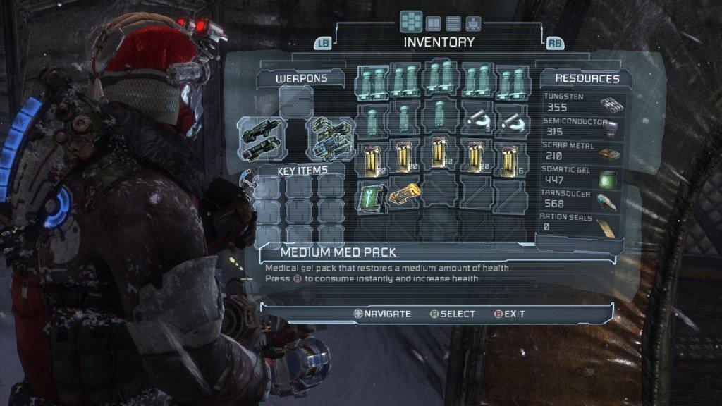 Dead Space 3 инвентарь:либо таклибо так - Изображение 2