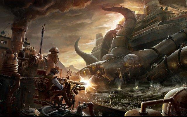 Выходу долгожданного Bioshock Infinite посвещается!Фантазии на тему стимпанка!  У вас есть своя профессиональная ком ... - Изображение 1