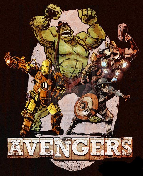 Steampunk Avengers от Брайана Кисингера - Изображение 1