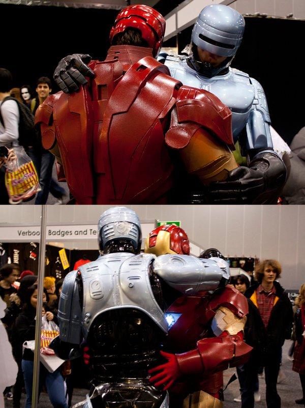 Тони пришел поддержать Алекса Мёрфи после показа трейлера нового Робокопа.  - Изображение 1