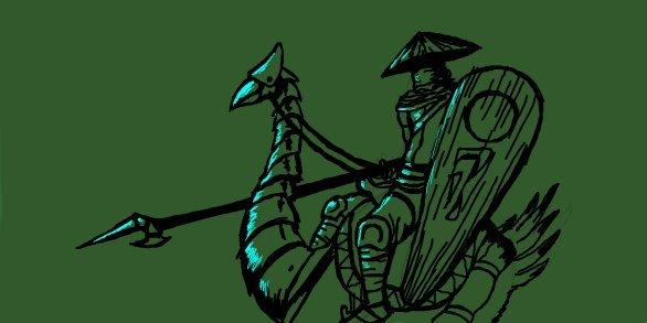 Сначала всё пошло с этого незамысловатого граффити, потом я решил зарисовать этого персонажа и птицу, дабы в будущем ... - Изображение 2