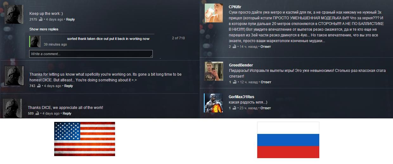 #Battlelog - замечательная вещь. Американское и русское сообщества #Battlefield такие разные, но все-таки они вместе... - Изображение 1