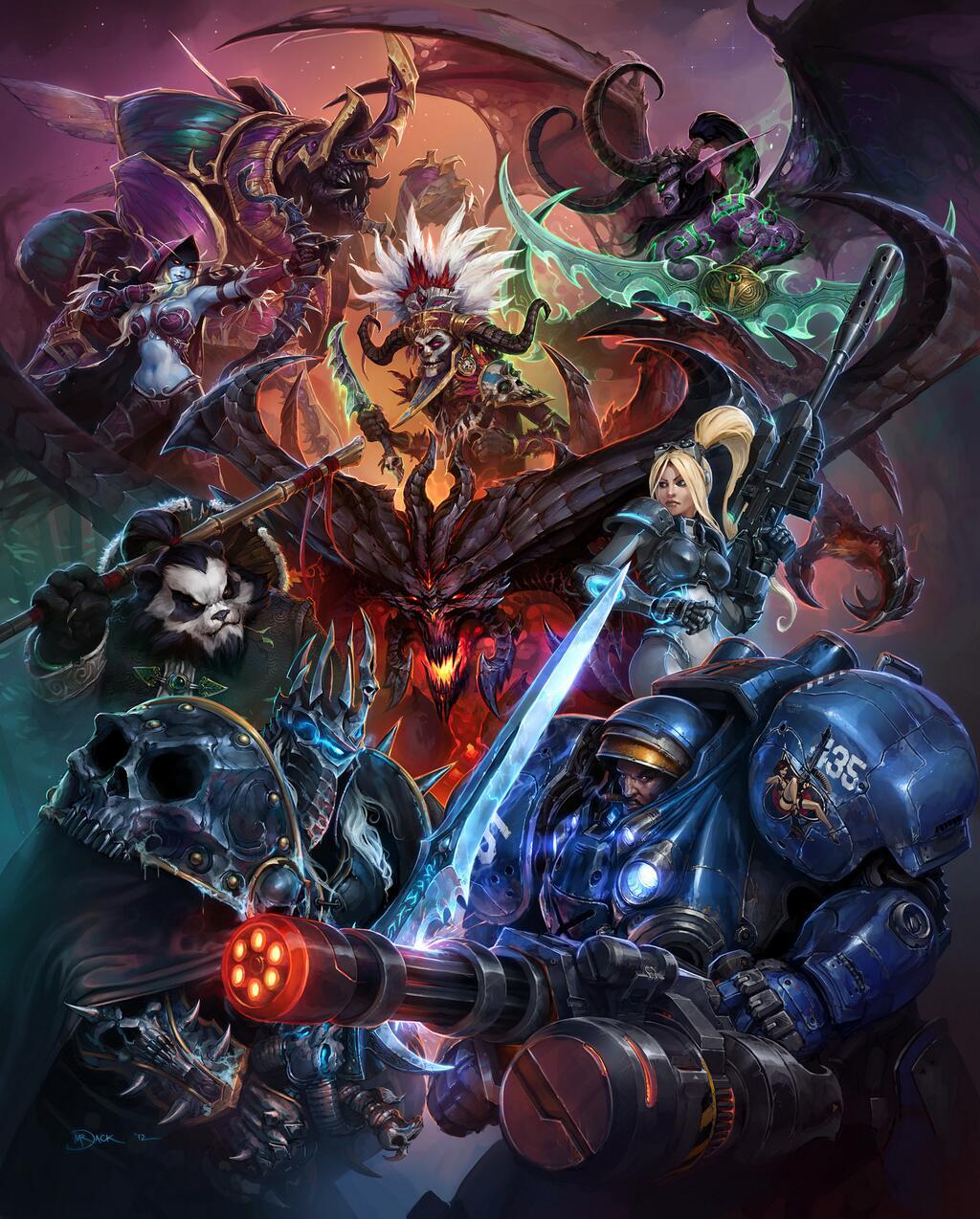 Студия Blizzard опубликовала первый арт своей новой MOBA-игры  Heroes of the Storm, на котором изображены главные ге ... - Изображение 1