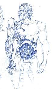 """Всем бодрого дня! друзья, Недавно выясняется  что в """"Mass Effect"""" Шепард должен был выглядеть именно так. """"Имплантир ... - Изображение 1"""