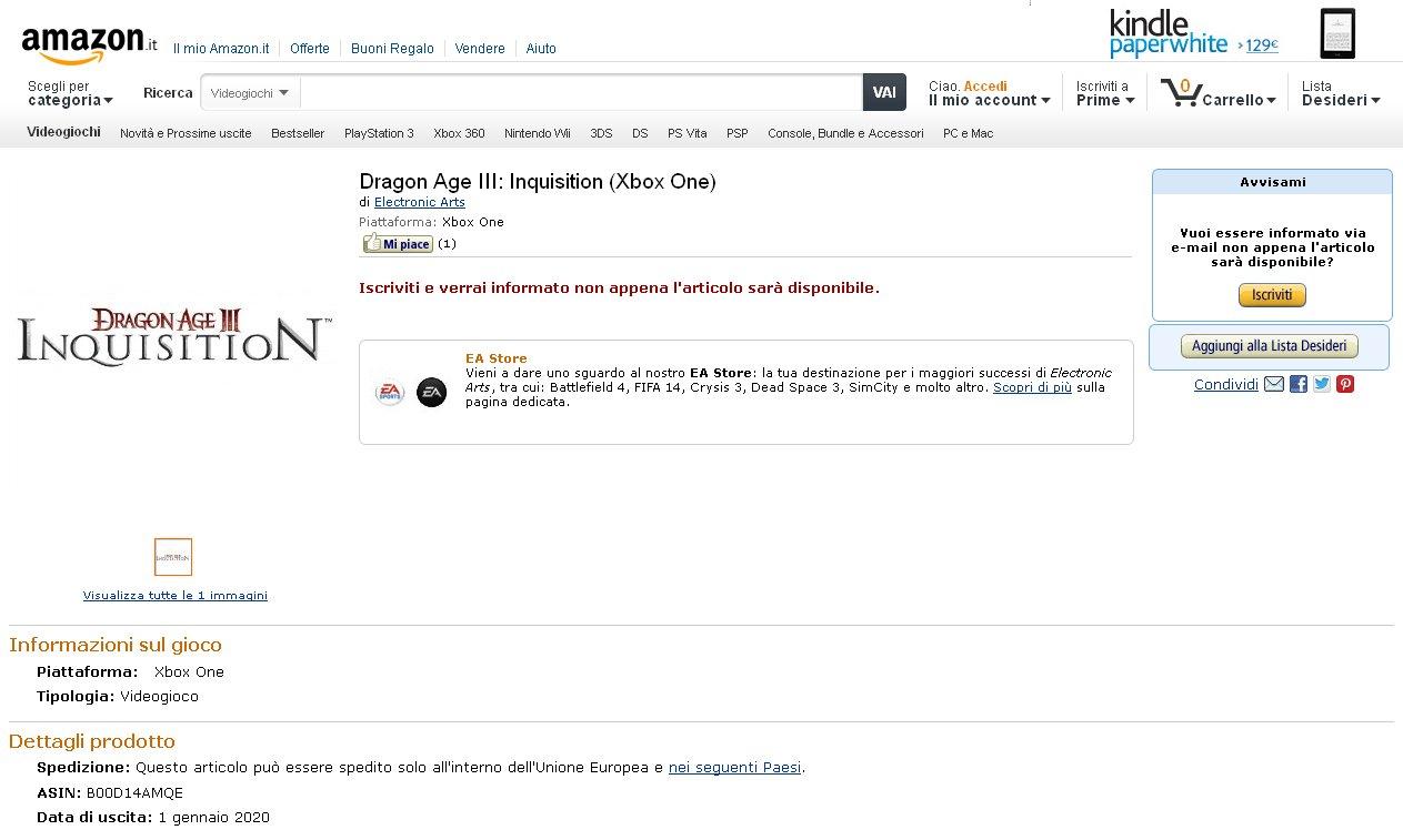 Итальянский Amazon снова стал источником утечки информации до официального анонса. Сегодня на сайте было анонсирован ... - Изображение 1