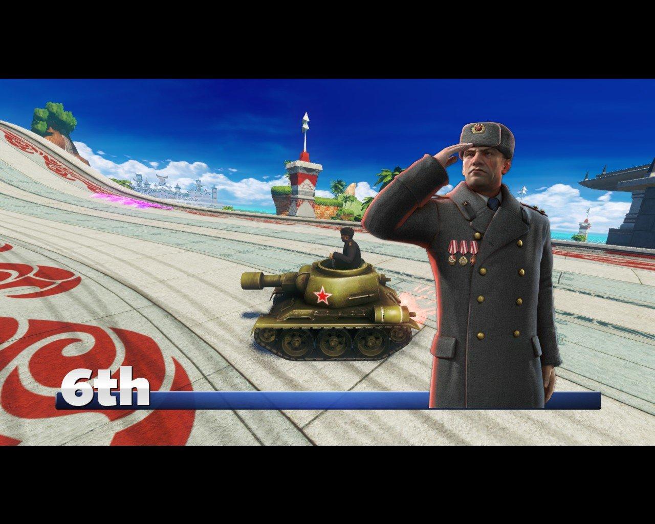 В честь выхода CoH2 в Sonic All-Stars Racing Transformed вышел новый персонаж. Знакомтесь - Генерал Зима (я не шучу, ... - Изображение 1