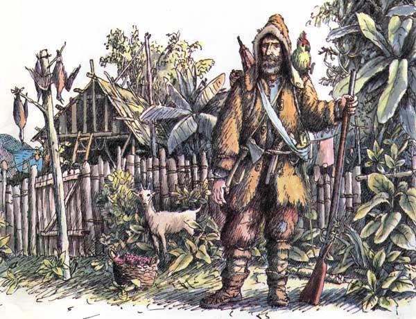 По своему сюжетному строению «Робинзон Крузо» характерное авантюрно-приключенческое произведение, написанное в жанре ... - Изображение 3