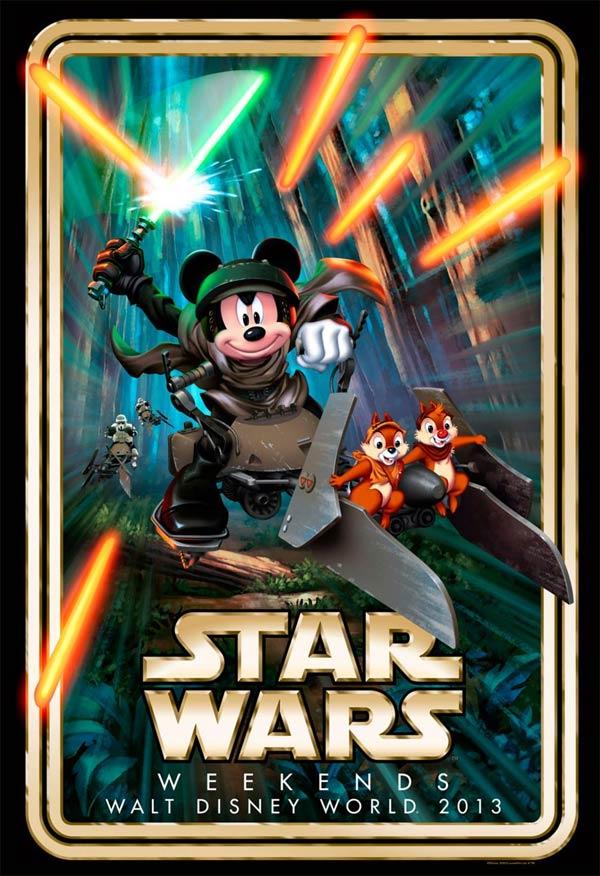 Вот и настал этот момент, Disney начинает активно скрещивать персонажей своих мультфильмов и героев саги «Звездные в .... - Изображение 1
