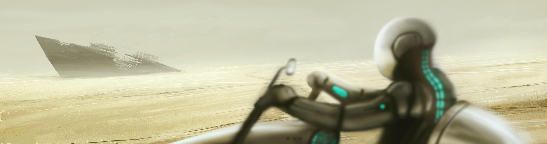 Еще один небольшой скетч на час-полтора. Решил пустыню порисовать, а потом расширил идею. В качестве развития можно  ... - Изображение 1