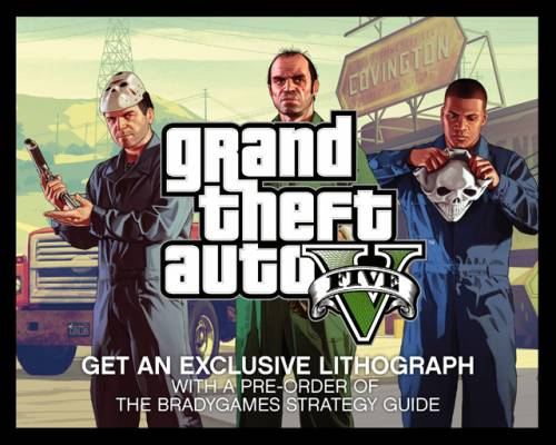 Новый арт GTA 5 от GameStop: маски-шоу  На GameStop, в разделе предзаказа гайда по GTA 5, появился бонус в виде лито ... - Изображение 1
