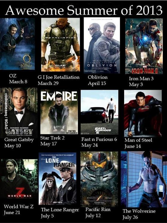 Расписания супер-пупер-крутых фильмов на весну -лето 2013. - Изображение 1