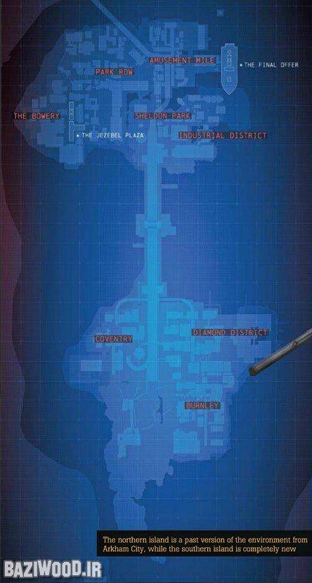 Представлена карта игрового мира Batman Arkham: Origins - Изображение 1