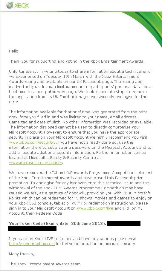 Майкрософт радует!!Тем кому лень читать: Майкрософт за то, что произошла ошибка с голосовнием Xbox Awards. Всем учас .... - Изображение 1
