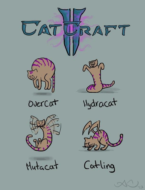 Я б сыграл#котэ #starcraft #зерги #catcraft  - Изображение 1