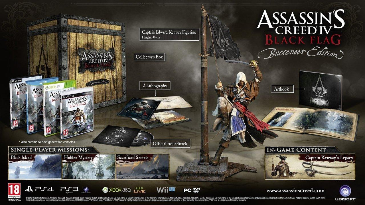 Ubisoft огласила содержимое коллекционного издания Assassin's Creed 4: Black Flag  В коллекционное издание Assassin' ... - Изображение 1