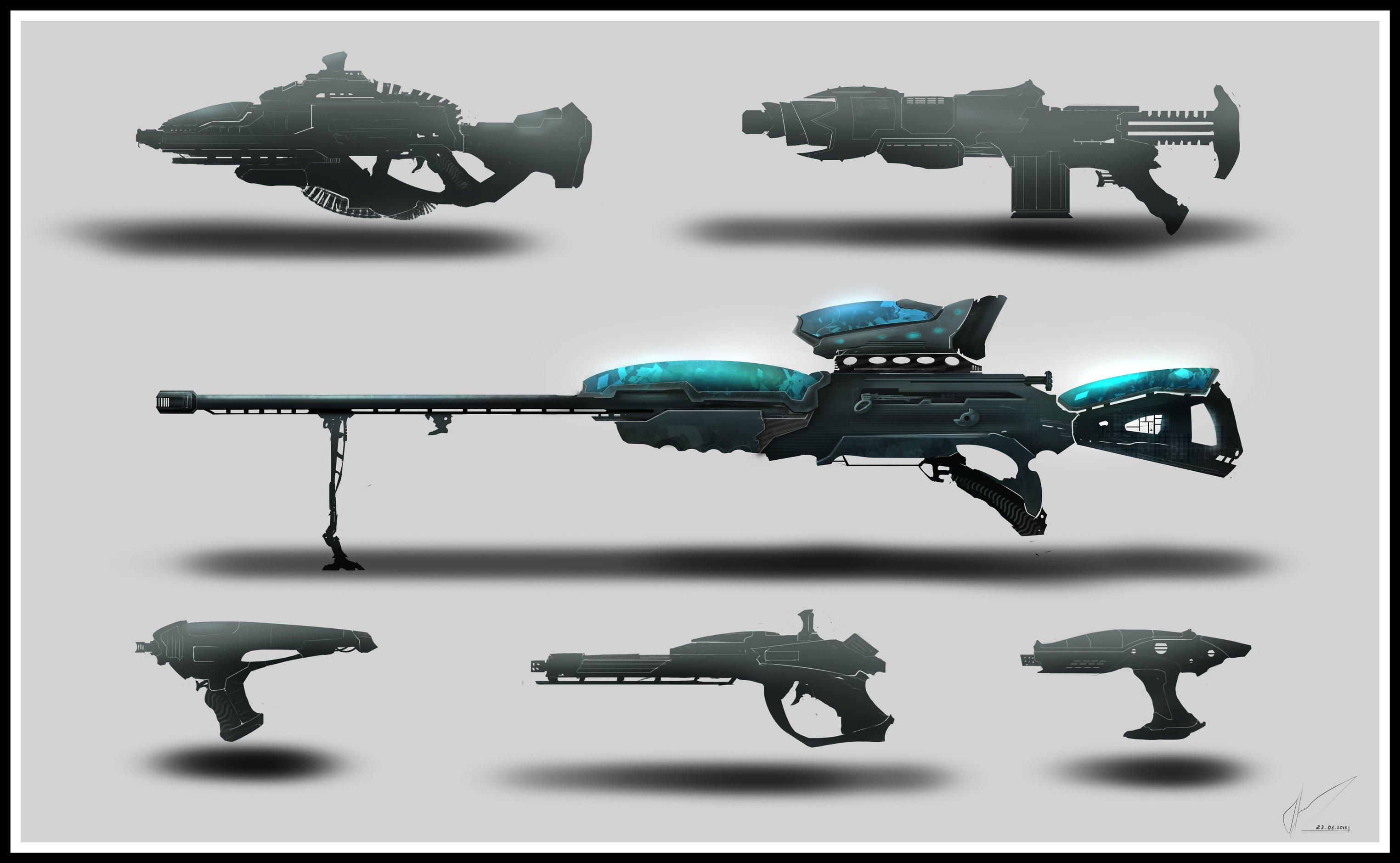 и ещё немного концепта, на этот рас оружие...Люблю снайперские винтовки! - Изображение 1