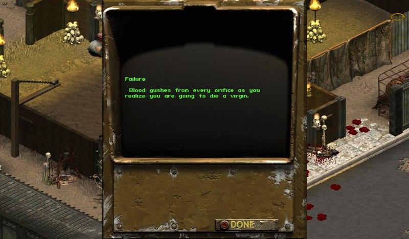 Пока кровь хлещет из вашей раны, вы осознаете, что умрете девственником. В Fallout: Tactics самая жестокая формулиро ... - Изображение 1
