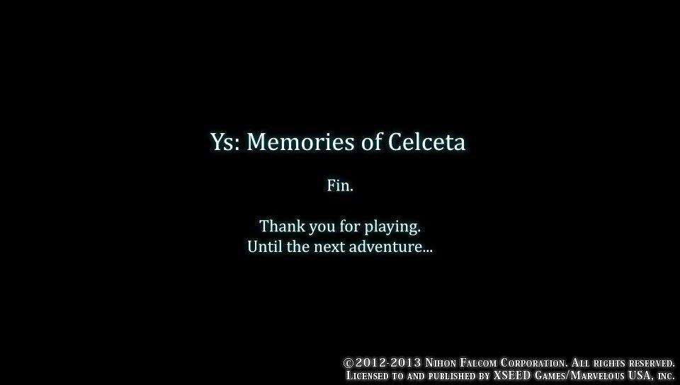 Ys Memories of Celceta - Пройдено. Я специально тянул игру целую неделю, но сегодня сорвался и все-таки добил. Досмо ... - Изображение 1