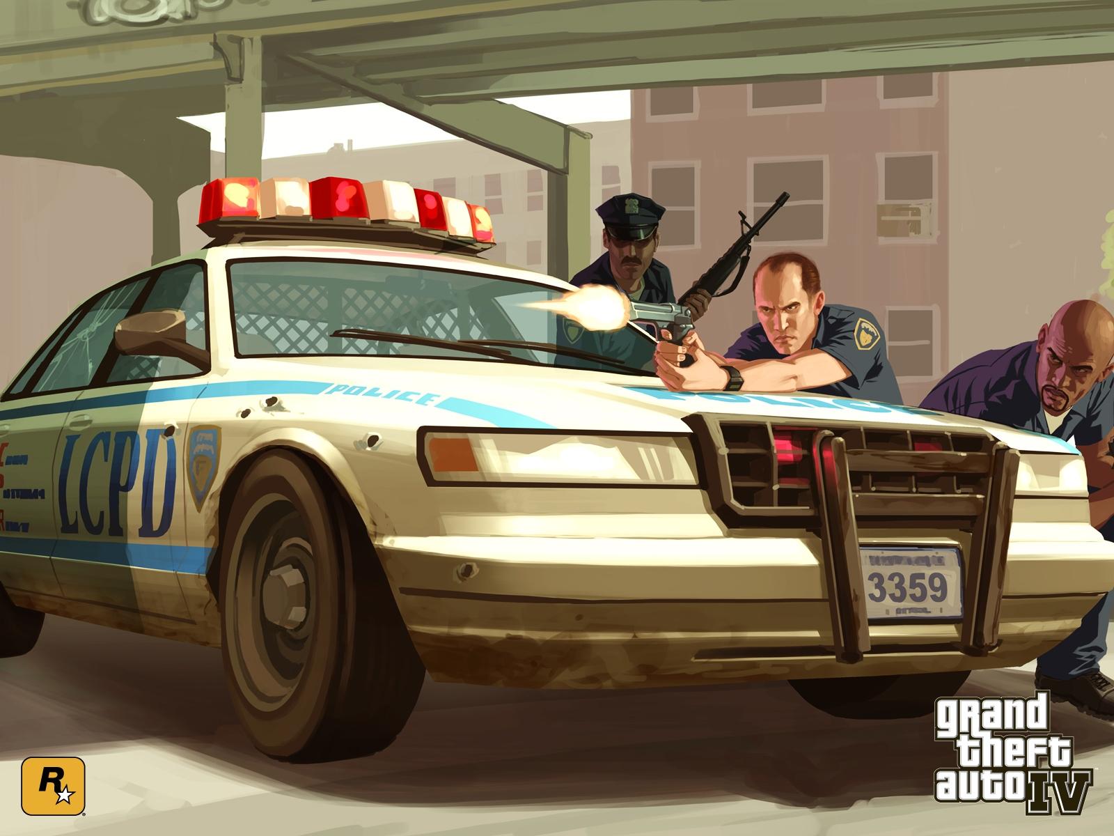 В один прекрасный день, я решил поиграть в GTA IV.  Угнал полицейскую тачку, поставил на парковочное место, зашёл в  ... - Изображение 1