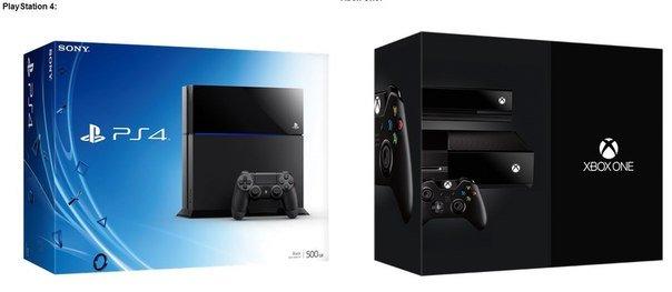 Дизайн коробок PlayStation 4 и Xbox One - Изображение 1