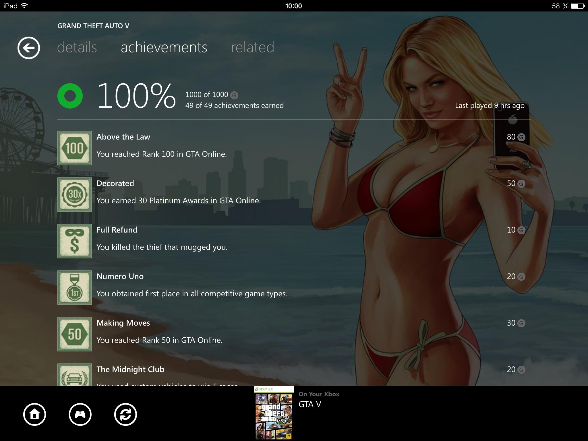 Аеее, наконец то взял 100й лвл в GTA Online и получил собственно 1000G в V'ке.) - Изображение 1