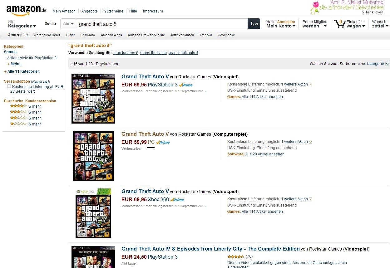 PC версия Grand Theft Auto V появилась в списках Amazon Germany и GamesOnly  Видимо Grand Theft Auto V все же появит .... - Изображение 2