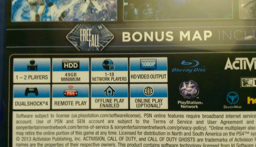 Совсем недавно появилась фотография бокс-арта Call of Duty: Ghosts для PS4, на котором представлена функция оффлайн  ... - Изображение 2