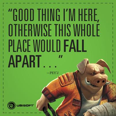 Ubisoft опубликовала на своей официальной страничке Facebook изображение со свином Pey'J из оригинальной игры. Намёк ... - Изображение 1