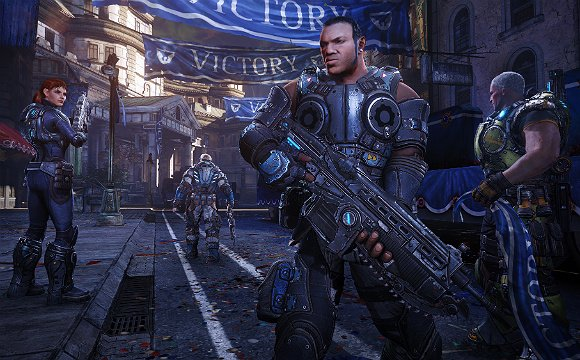 Повторение – мать учения или  Gears of War: JudgmentОтряд  Кило стоит посреди судебного зала, за дверью слышны выстр ... - Изображение 3
