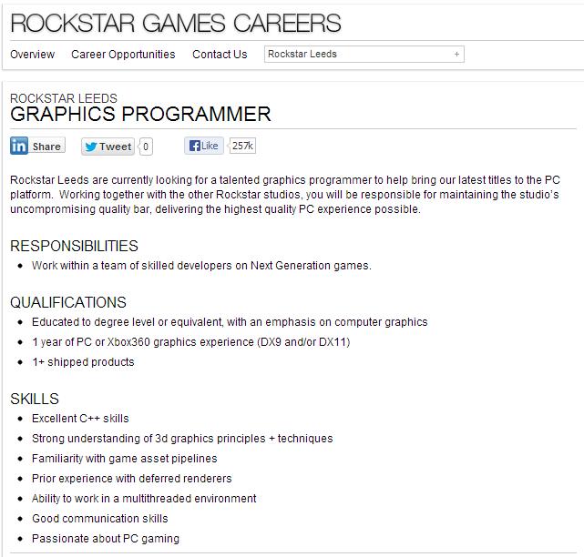 Rockstar ищут графического программиста для переноса игр на PC. К чему бы это? ))))) - Изображение 1