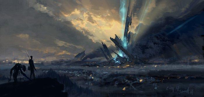 """""""Тонкая грань""""по мотивам Half-Life  Два человека. Две фигуры стояли на холме, вдыхая воздух отравленный пылью, пропи ... - Изображение 1"""