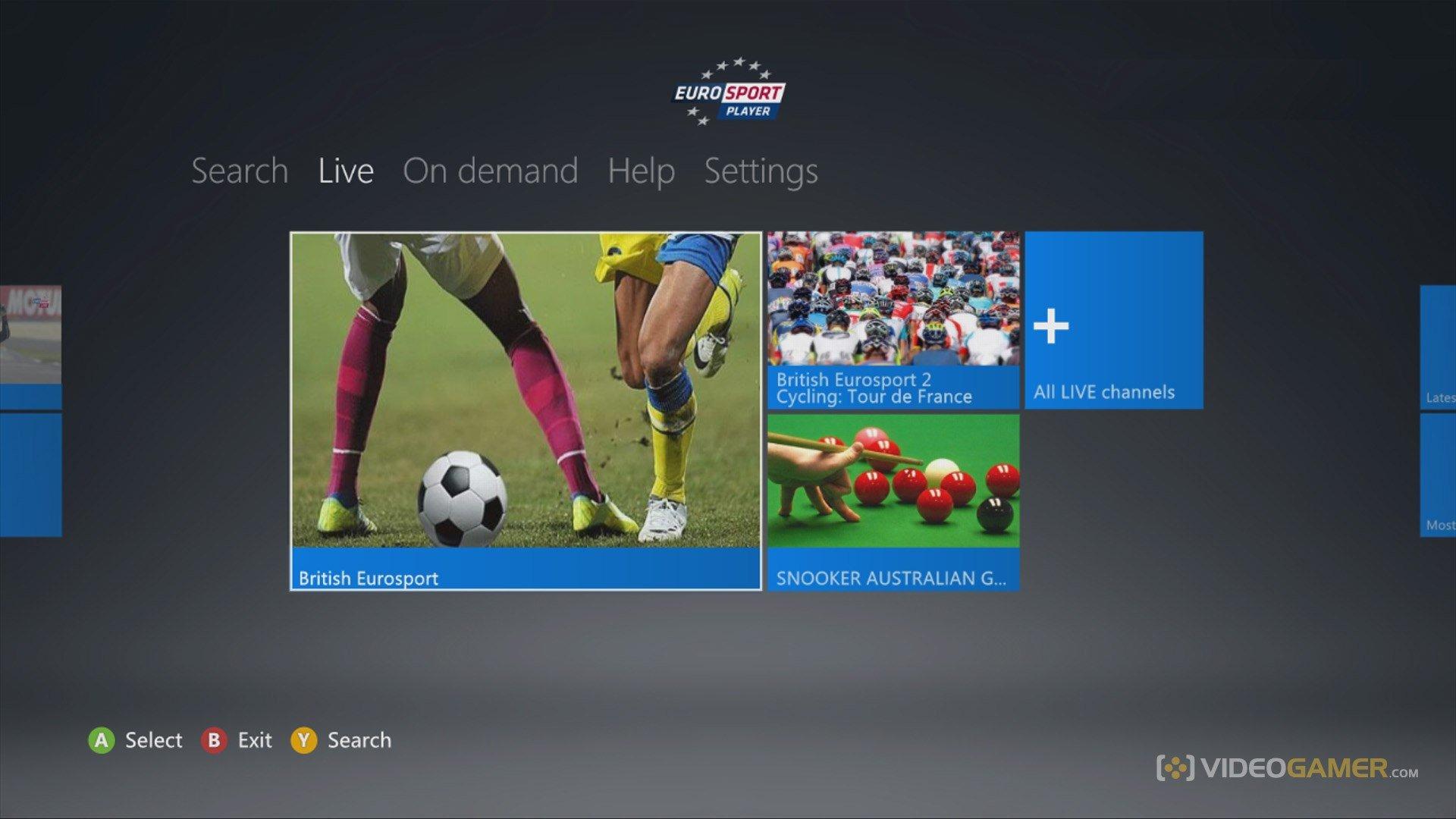 Eurosport на Xbox 360. Любимые спортивные состязания на русском языке в прямом эфире и по запросу в HD качестве  - Изображение 1